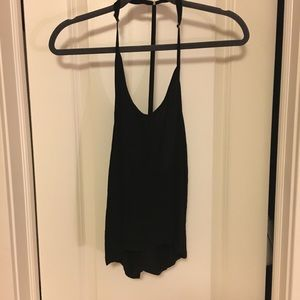 Black t back tank top